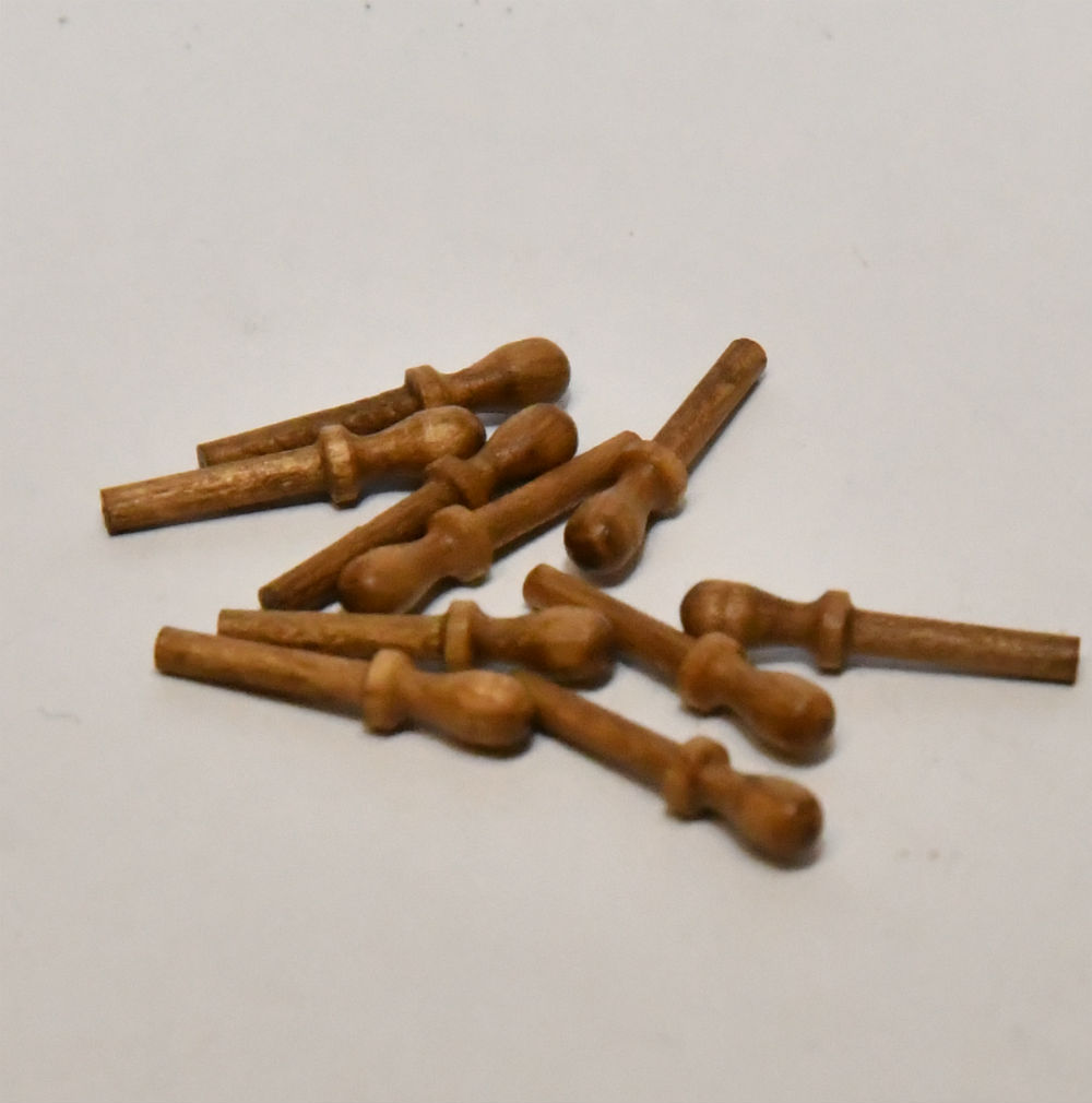 Scale Model boat fittings Walnut Belaying Pins tall ship galleon rigging