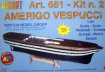 wood model ship boat kit Amerigo vespucci 651