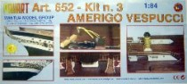 wood model ship boat kit Amerigo vespucci 652
