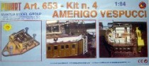 wood model ship boat kit Amerigo vespucci 653
