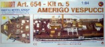 wood model ship boat kit Amerigo vespucci 654