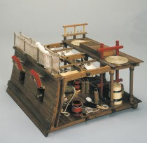 wood model ship boat kit gun bay