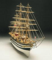 wood model ship boat kit Amerigo vespucci 650