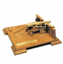wood model weapon kit french naval gun