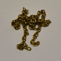 Model ship boat railway diarama chain small metal brass scale