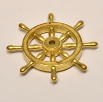 Scale traditional Model ship or boat wheel in cast metal
