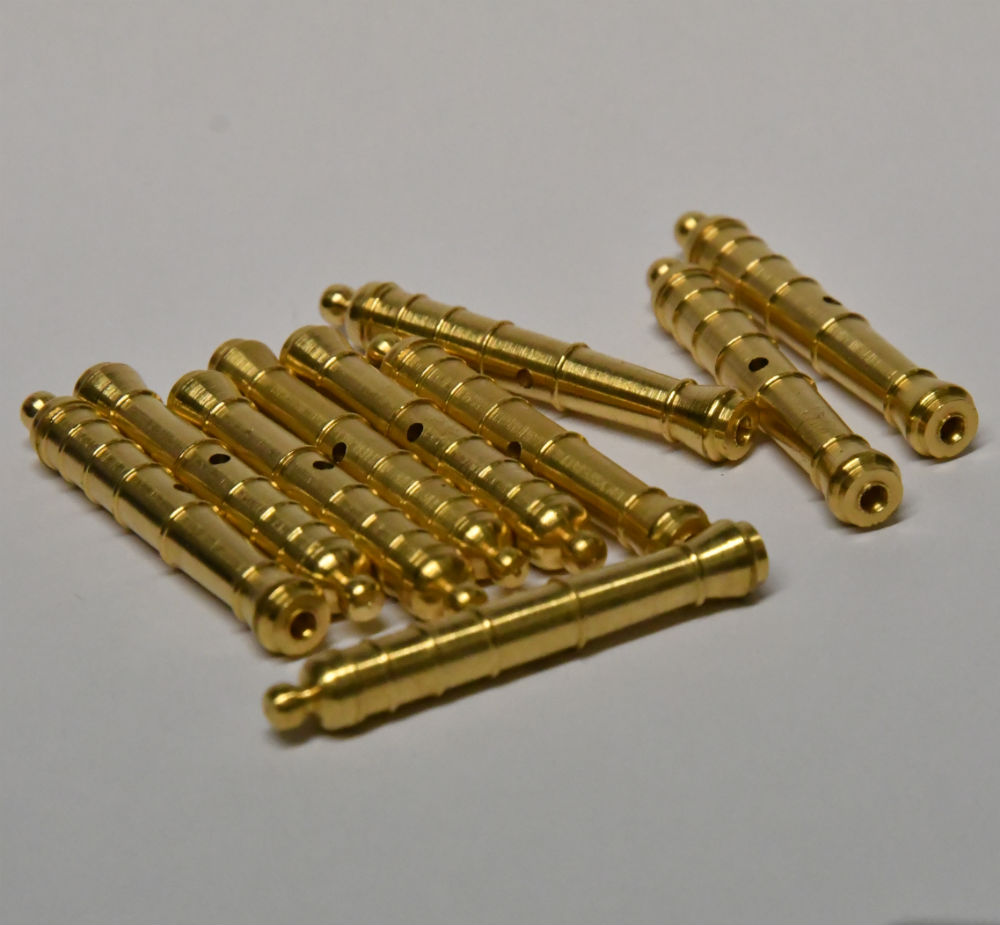 Model Boat fitting Brass Cannons