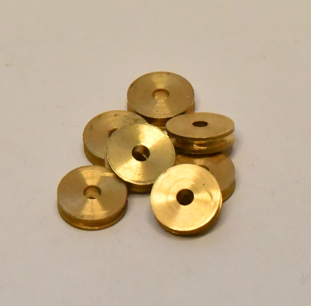 Scale Model Boat Ship rigging fitting Sheaves pulleys brass