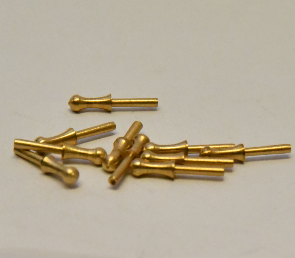 Scale Model boat fittings brass Belaying Pins tall ship galleon rigging