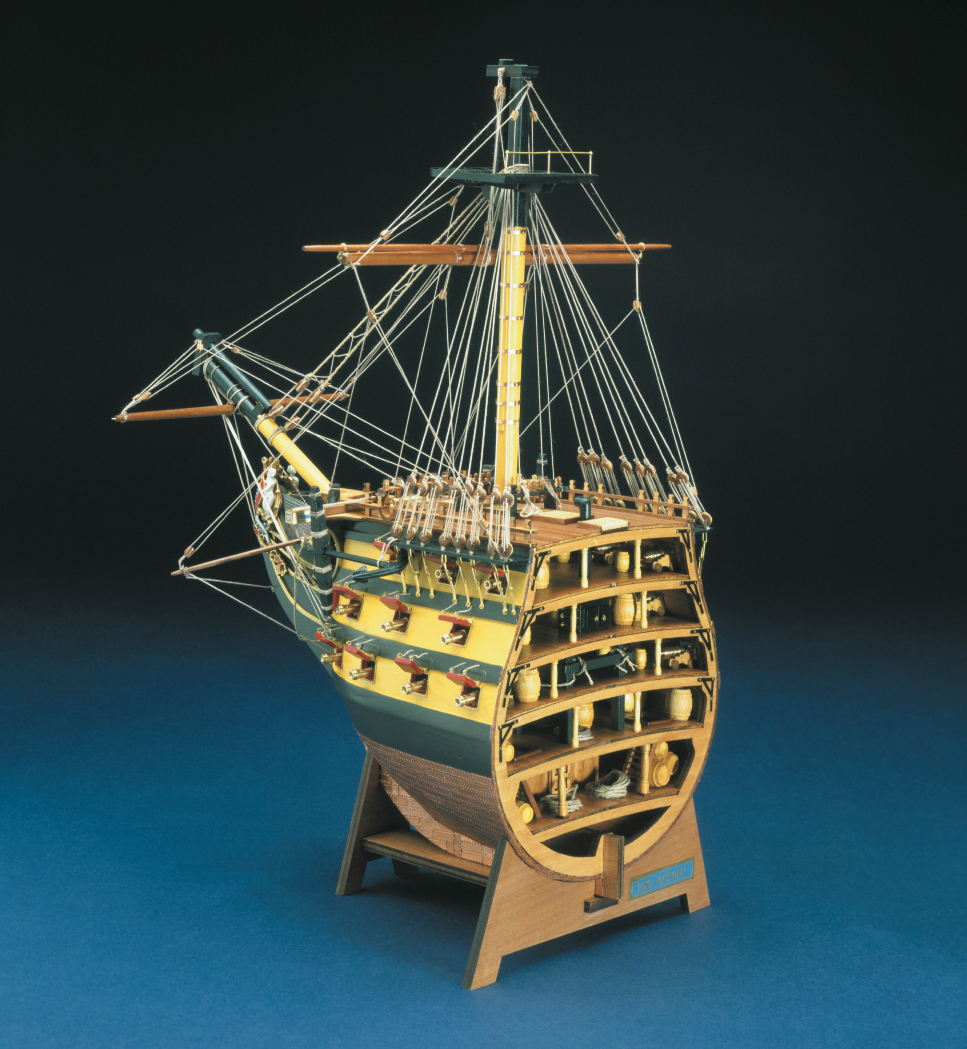 wood model ship boat kit HMS Victory bow section