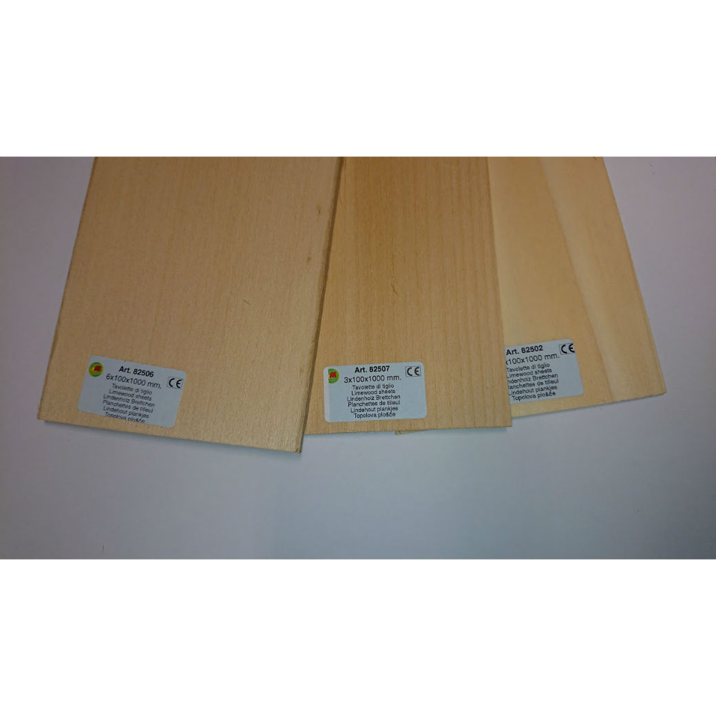 Model Lime sheet wood for modelling 82510