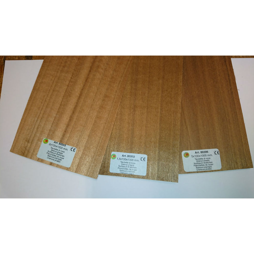 Model Walnut sheet wood for modelling 80201