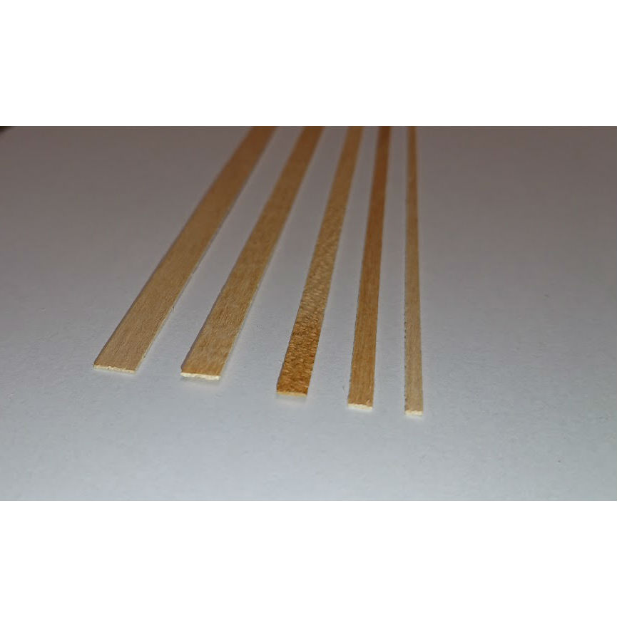 Model white maple strip wood for planking model ships 80504