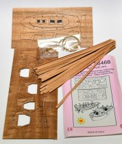 Model Boat Ship Rope Lifeboats wood