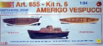 wood model ship boat kit Amerigo vespucci 655