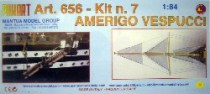wood model ship boat kit Amerigo vespucci 656