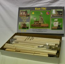 wood model ship boat kit Kon Tiki