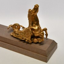 Cast metal Model Boat Ship Stands Brass pegasus
