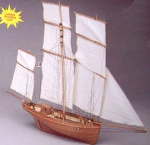 wood model ship boat kit Le Madeline