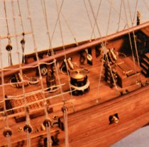 wood model ship boat kit HMS Sharke