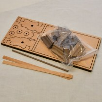 wood model weapon kit American canon
