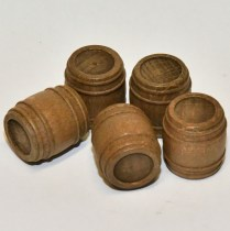 Model boat fittings Walnut barrels 32330